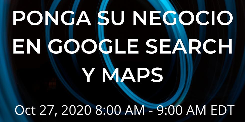 Ponga su negocio local en Google Search y Maps con Sixcia Devine