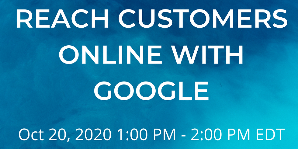 Reach Customers Online with Google- Bangor Library + SCORE