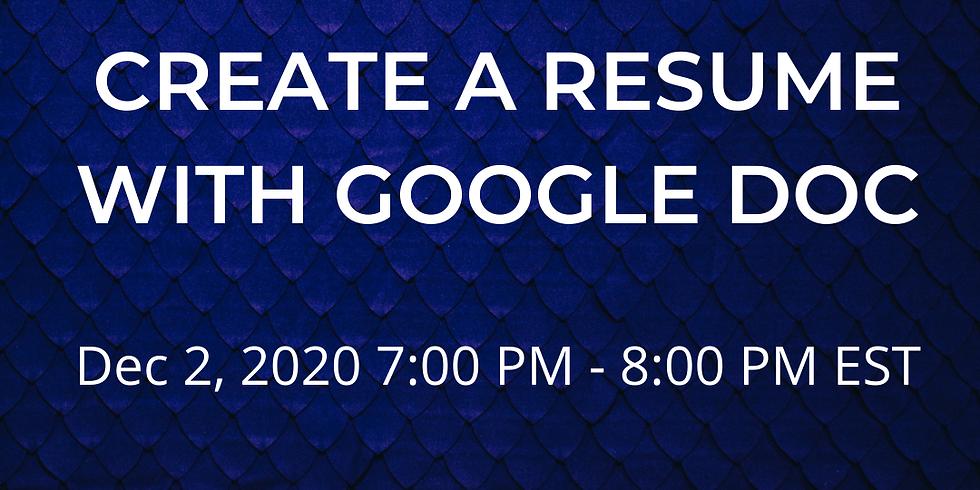 Bilingual - Create a Resume with Google Doc