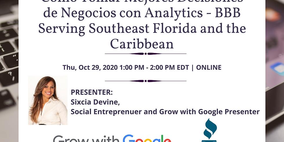 Cómo Tomar Mejores Decisiones de Negocios con Analytics - BBB Serving Southeast Florida and the Caribbean
