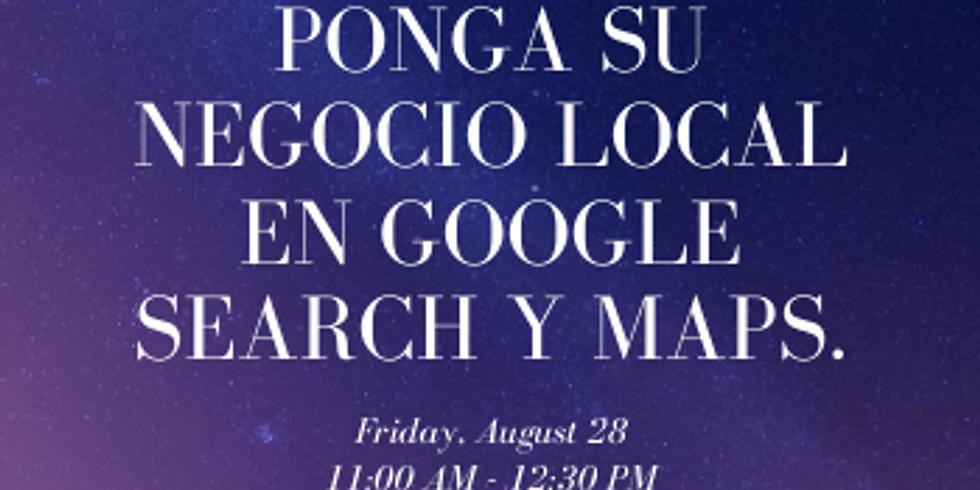 Ponga su negocio local en Google Search y Maps