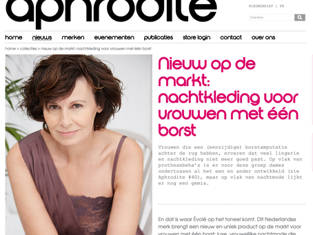 Super trots! we staan in het lingerie magazine Aphrodite