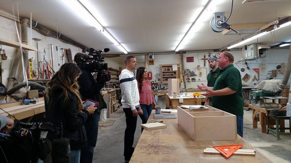 HGTV Filming at Greg Davis Custom Woodworks shop