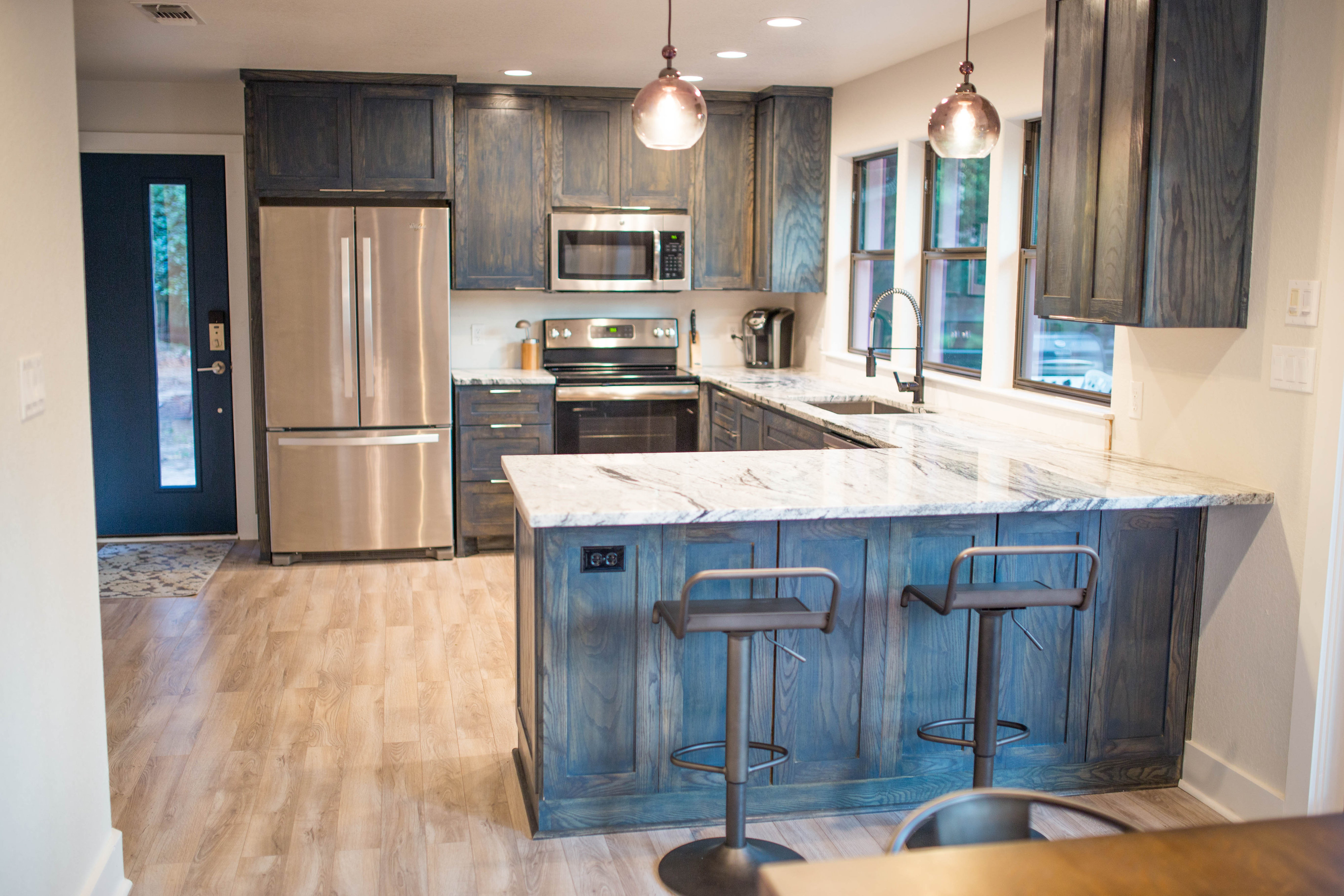 HGTV Featured Kitchen, Navy Stain