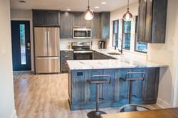 HGTV Featured Kitchen, Navy Stain
