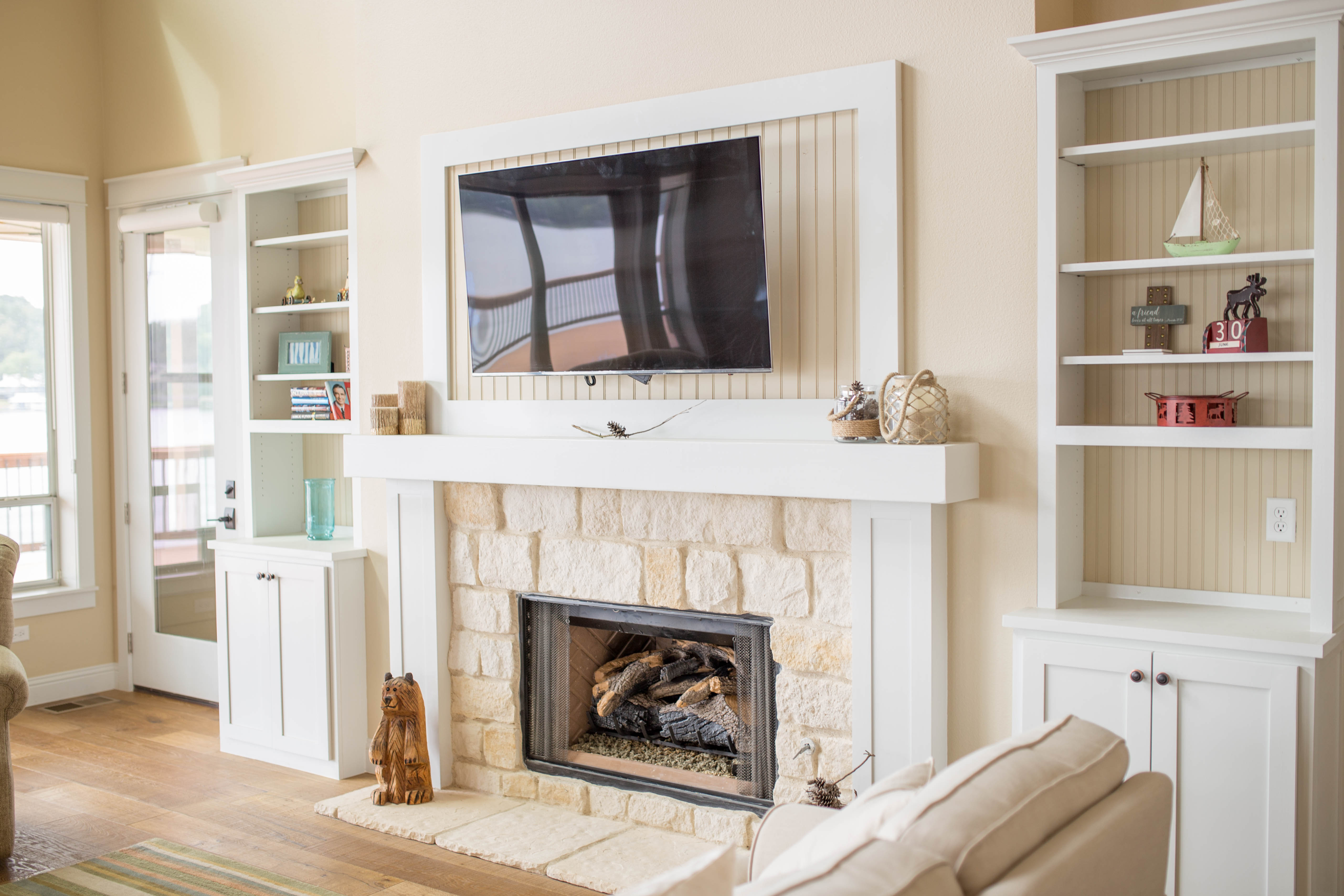 Custom Fireplace Mantle and Built-in