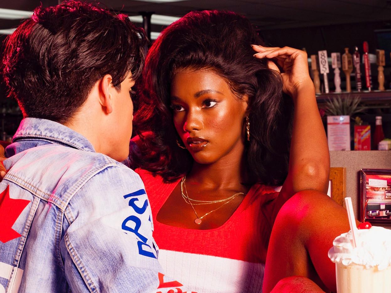 Mariama Diallo (Wonderland Magazine, DSquared2/Pepsi collaboration)