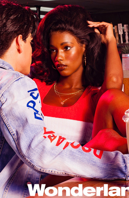 Mariama Diallo (Wonderland Magazine, DSquared2/Pepsi collaboration)