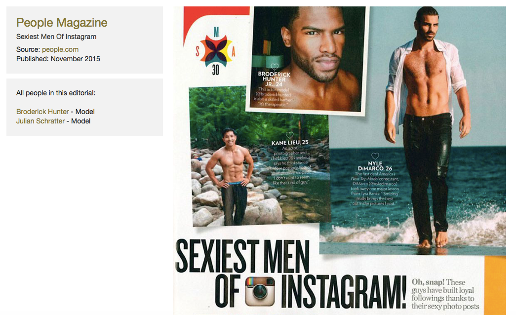 People Magazine's Sexiest Men of Instagram