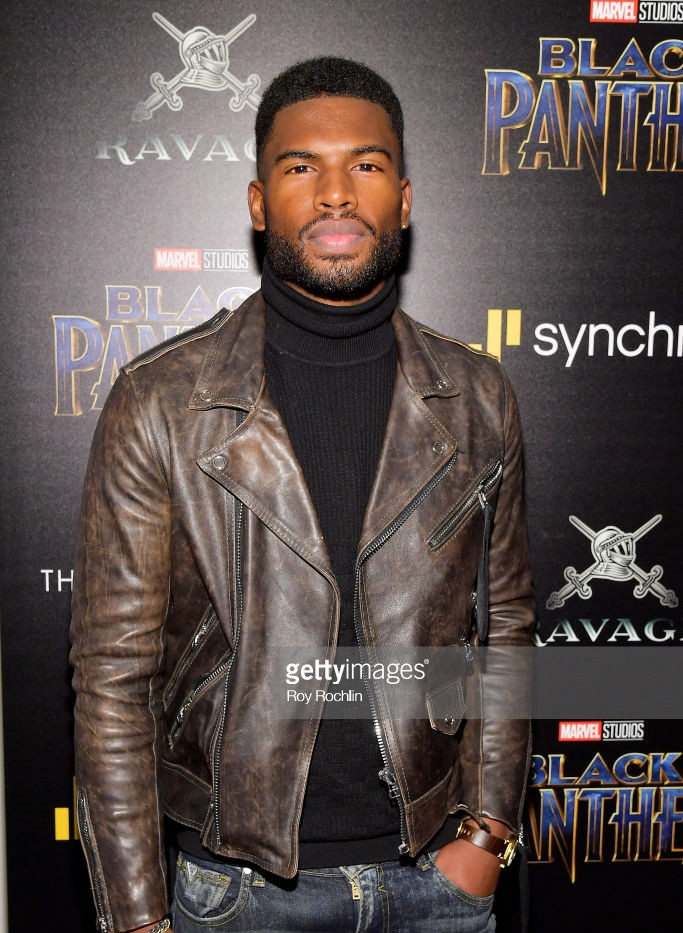 Broderick Hunter arrives at BLACK PANTHE