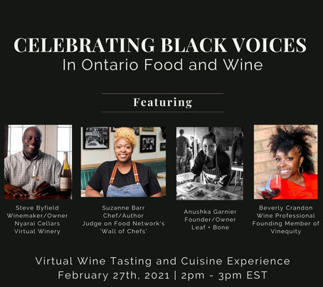 Celebrating Black Voices in Ontario Food and Wine