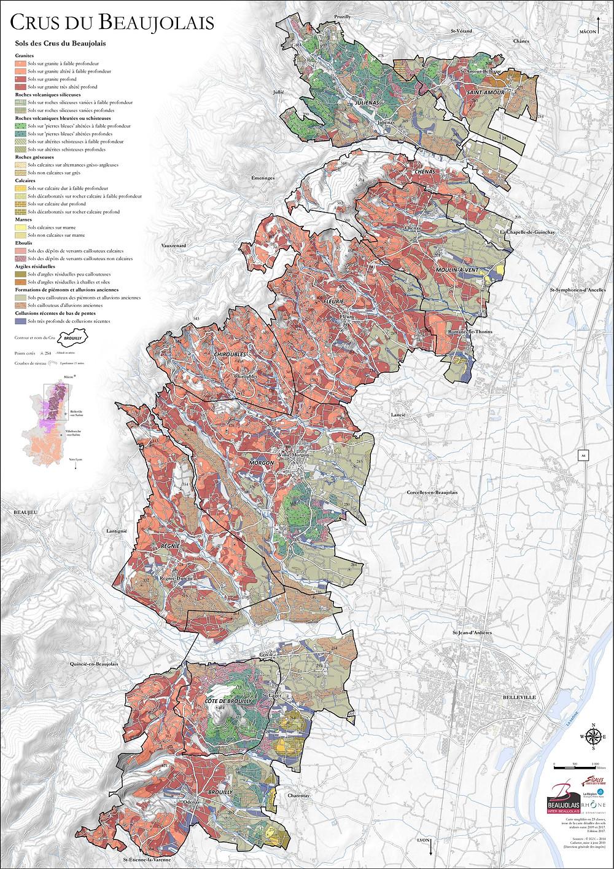 Beaujolais Wine Map