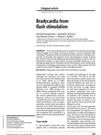 Bradycardia from Flash Stimulation