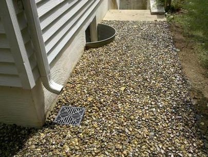 Gravel-Lok drain and drip edge