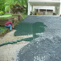 LSG grid driveway installation