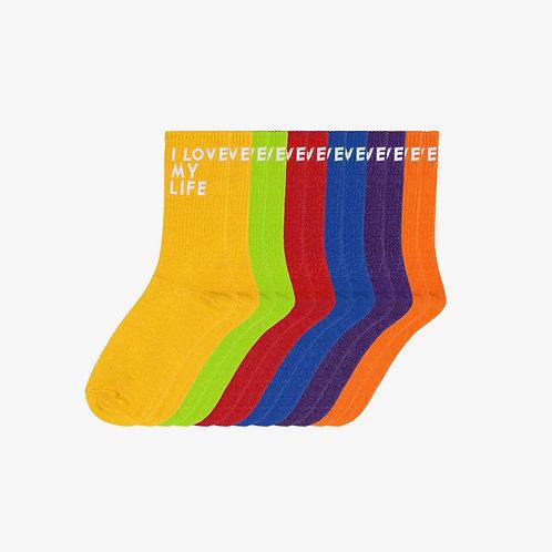 Unity Rainbow Colour Socks