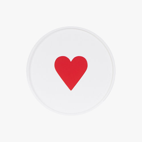 Glass Coaster Red Heart