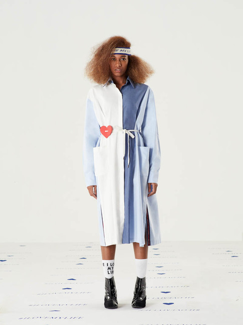 I Love My Life Headband - White = THB 690 Cut n Add Cotton Dress = THB 4,590