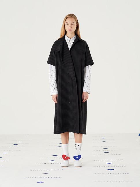 Too Important Striped Heart Shirt - Black = THB 3,200 Fit Flare Long Dress - Black = THB 4,590
