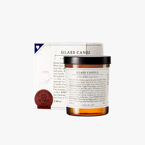 Glass Candle - Café de Paris  (S)