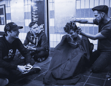 Josh Coombes, the guy cutting the hair of the homeless in London