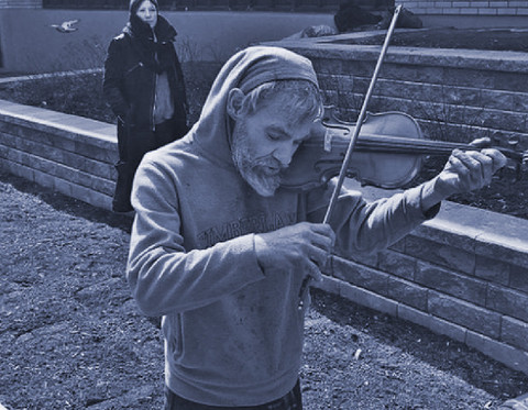 Put Music Back In His Life' Homeless man gifted new violin after reporting his old one stolen.