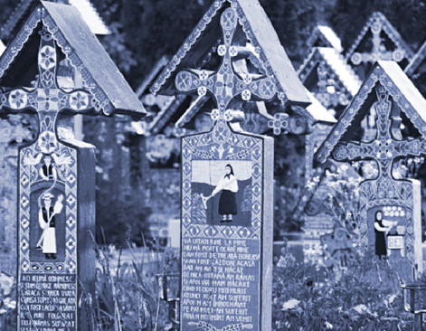 The Merry Cemetery, grave markers celebrate life with beautiful images and gentle wit.
