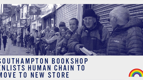 Southampton bookshop enlists human chain to move to new store
