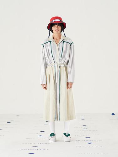 Too Important Hat - Red = THB 1,450 Cut n Add Striped Cotton Dress = THB 4,590