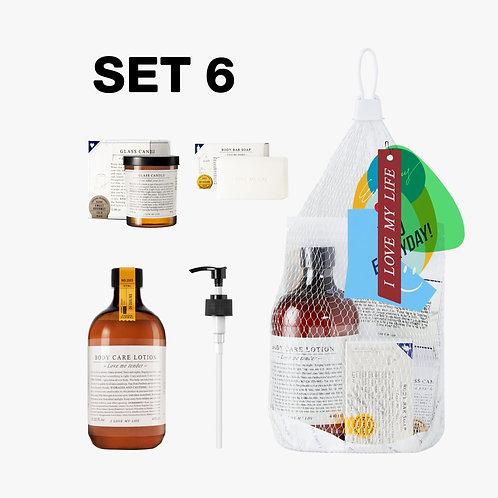 SET 6 Everyday Market Body Treatment # 1 / Net Bag