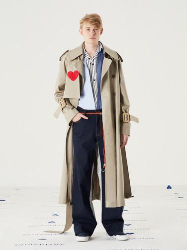 Important Heart PU Coat -Caramel Beige = THB 12,500 Cut n Add Oxford Shirt - Blue = THB 2,850 Important Striped Heart Shirt = THB 3,200 Too Important Stripe Jeans - Gray = THB 4,200