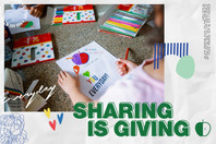 SHARING IS GIVING