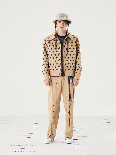 Too Important Hat - Cream = THB 1,450 Important Heart Sweater = THB 2,190 Important Heart Twill Jacket -Beige = THB 9,890 Important Heart Twill Pant -Beige = THB 3,850