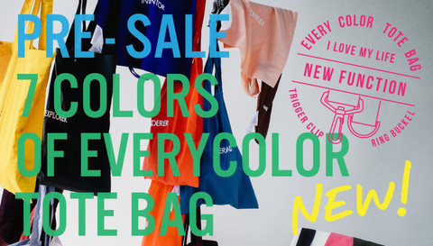 PRE-SALE!! Everycolor Tote Bag only at Online Stores