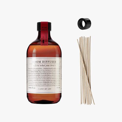 Room Diffuser Set - Fresh Market - 500 ml.