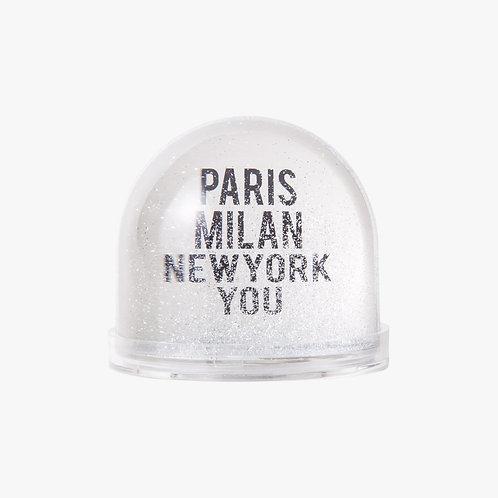 Snow Globe - PARIS MILAN NEW YORK YOU