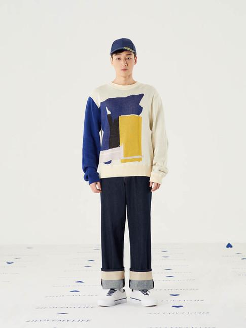 Cut n Add Knitted Sweater-Beige = THB2,950