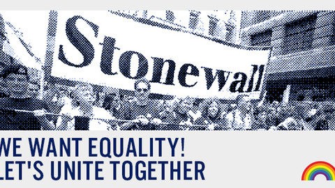WE WANT EQUALITY, LET'S UNITE TOGETHER.