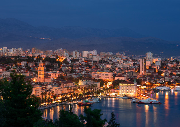 Luminous Split Croatia skyline