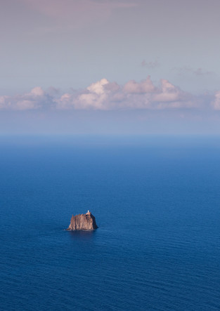 Strombolicchio island with lighthouse