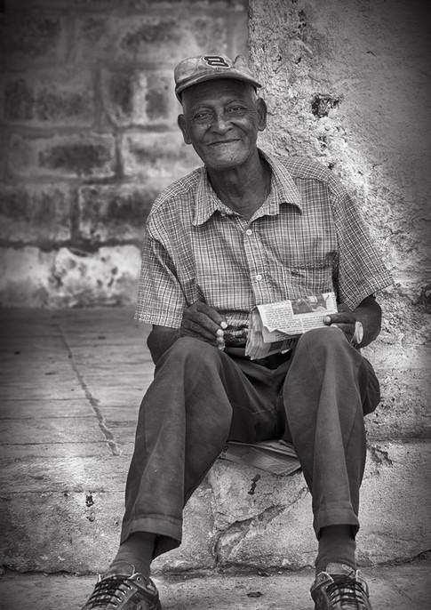 Portrait Alter kubanischer Mann in Havanna