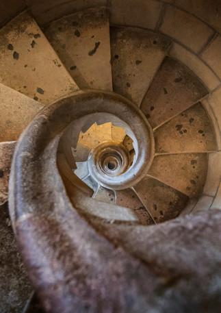 Steinerne Wendeltreppe im Tower der Sagrada Familia