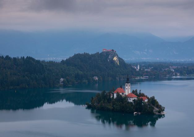See bei Bled in Slowenien