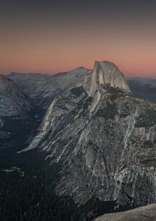 Sonnenuntergang im Yosemite NP, Glacier Point