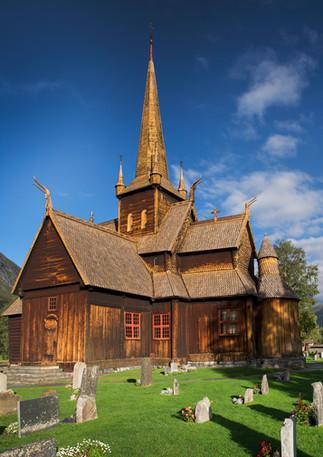 Stabkirche in Lom, Norwegen