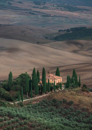 Villa Podere Belvedere in Val d'Orcia, Tuscany