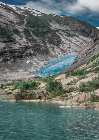 Gletscher Nigardsbreen im Jostedal Nationalpark