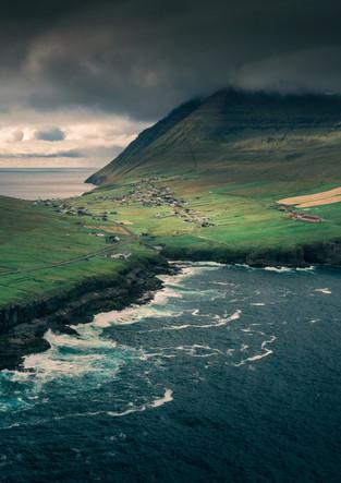 Dorf Viðareiði auf Vidoy, Färöer Inseln