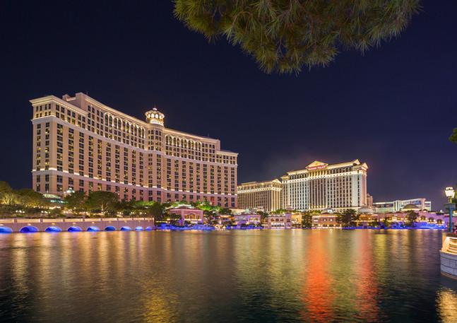 Hotel Bellagio Las Vegas bei Nacht