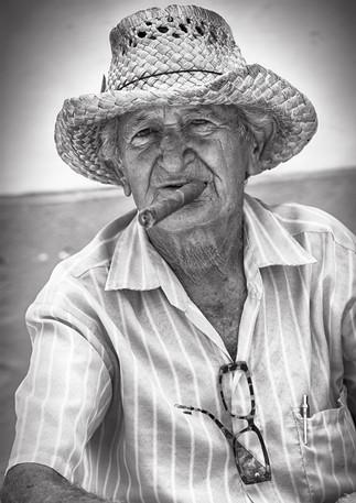 Kubaner mit Zigarre